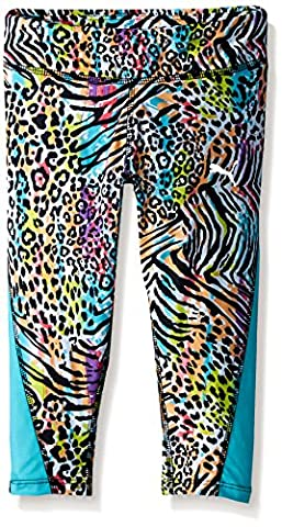PUMA Little Girls' Active Legging Capri, Kitty Cat, 5 (Cheetah Print Pumas)