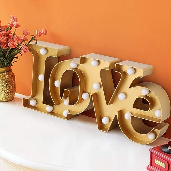 Amazon.com: Bright Zeal - Señal de amor con luz grande de ...