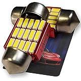 【最新 超発光】LIMEY T10 LED 28mm ルームライト ホワイト 白 6500K 最新4014SMD 15連 無極性 アルミヒートシンク搭載 耐久性抜群 キャンセラー搭載(インジケータ誤作動/ゴースト点灯防止対策) 普通車/ハイブリッド車(HV車・EV車)対応 DC12V車用 日本語取説&保証書付き 2個入 - 15R28M