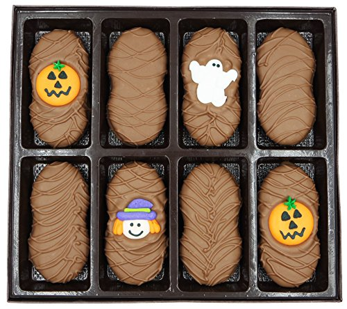 Philadelphia Candies Milk Chocolate Covered Nutter Butter Cookies, Halloween Assortment (Cute Witch, Ghost, Pumpkin) Net Wt 8 oz
