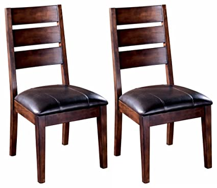 Ashley Furniture Signature Design   Larchmont Dining Room Chair   Set Of 2    Burnished Dark
