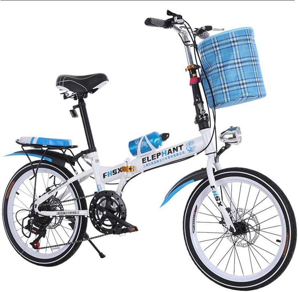 Farbe: BLAU Gr/ö/ße: 150 * 35 Zusammenklappbares Auto Geschwindigkeits/änderung Auto 20 Zoll zusammenklappbares Fahrrad Scheibenbremse Fahrrad M/änner und Frauen Ultraleichtes tragbares Fahrrad