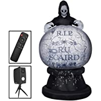 8.5ft Living Projection Reaper Globe Inflatable Airblown Deals