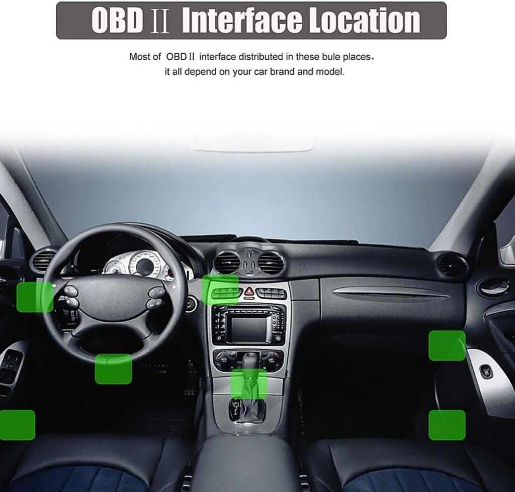Toygogo OBD II OBD 2 Cable de Conexi/ón de 16 Pines a USB para Pantalla HUD Head Up del Coche