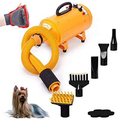 Free Paws Dog Dryer 4.0 HP 2 Speed Adjustable Heat Temperature Pet Dog Grooming Hair Dryer Blower Professional