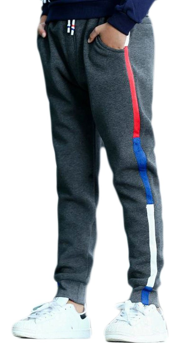 Cruiize Boys' Classic High Waist Casual Striped Sport Jogger Pant
