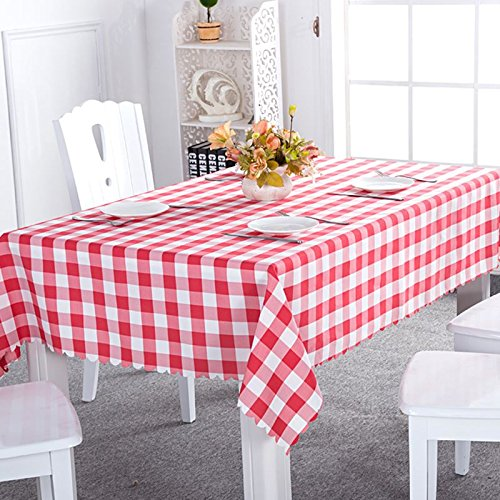 Rightvp Oblong Plaid Woven Polyester Tablecloth Nordic Country Style Dining  Vintage Table Covers Suitable For Casual