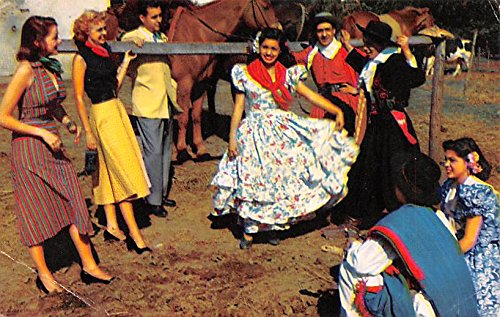 Gauchos and girls perform folk dance in local costume Buenos Aires Argentina (Gaucho Argentino Costume)