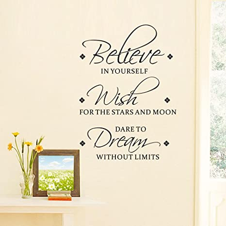 Buy Bibitime Believe In Yourself Wish For The Stars And Moon Dare To