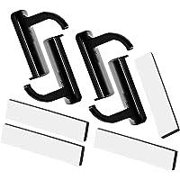 JZZJ 4 Pack Hoofdtelefoon Headset Hanger Monitor nd Houder Headset Stick-on Hook, Zwart