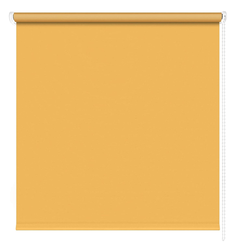 Kettenzugrollo Seitenzugrollo Fenster Rollo 13 Farben Breite 60 - 220 cm Länge 180 und 230 cm blickdicht halbtransparent lichtdurchlässig Sonnenschutz Blendschutz (Größe 190 x 180 cm Farbe Gelb)