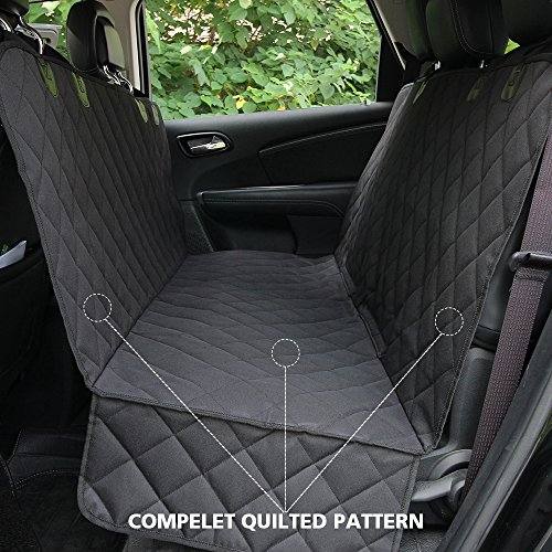 HONEST OUTFITTERS Honest Luxury Quilted Dog Car Seat Cover With Side Flap Pet Backseat cover for Cars, Trucks, and Suv's - WaterProof & NonSlip Diamond Pattern Dog Seat Cover by HONEST OUTFITTERS (Image #8)