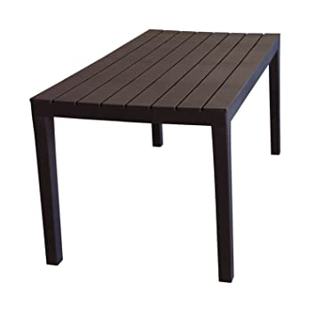 Table de camping \'Sumatra\' Table Plateau imitation bois plastique ...
