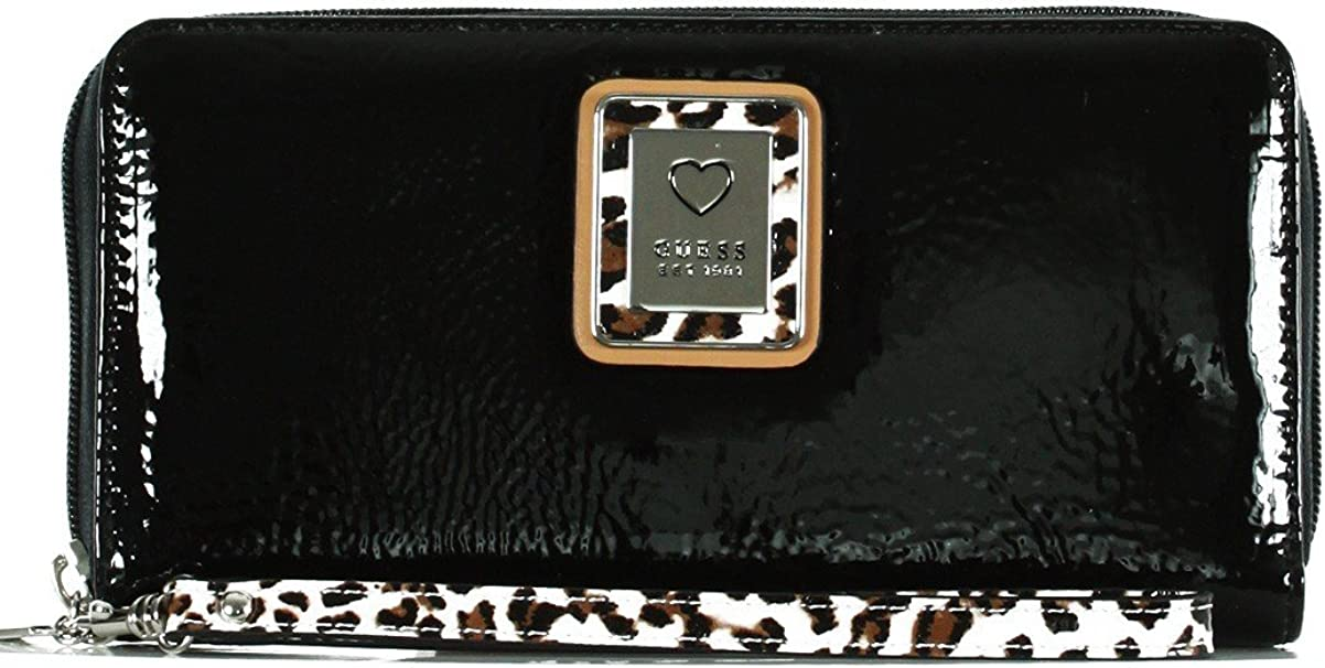 portefeuille vernis guess