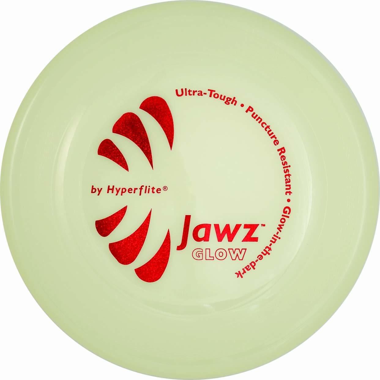 Frisbee para Perros Grado Competicion Hyperflite Jawz 22cm. Resistente a Mordeduras Glow