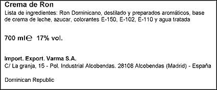 Barceló Crema De Ron - 700 ml: Amazon.es: Alimentación y bebidas