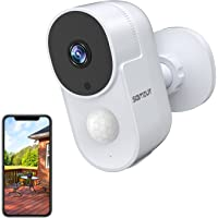 Security Camera Outdoor, Samzuy Wireless WiFi 1080P Home Rechargeable 10000mAh Surveillance Cameras, Battery Powered…