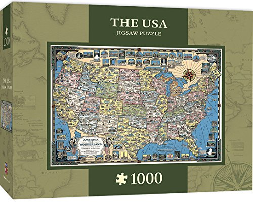MasterPieces The USA Map 1000 Piece Jigsaw Puzzle - Buy Online in ...