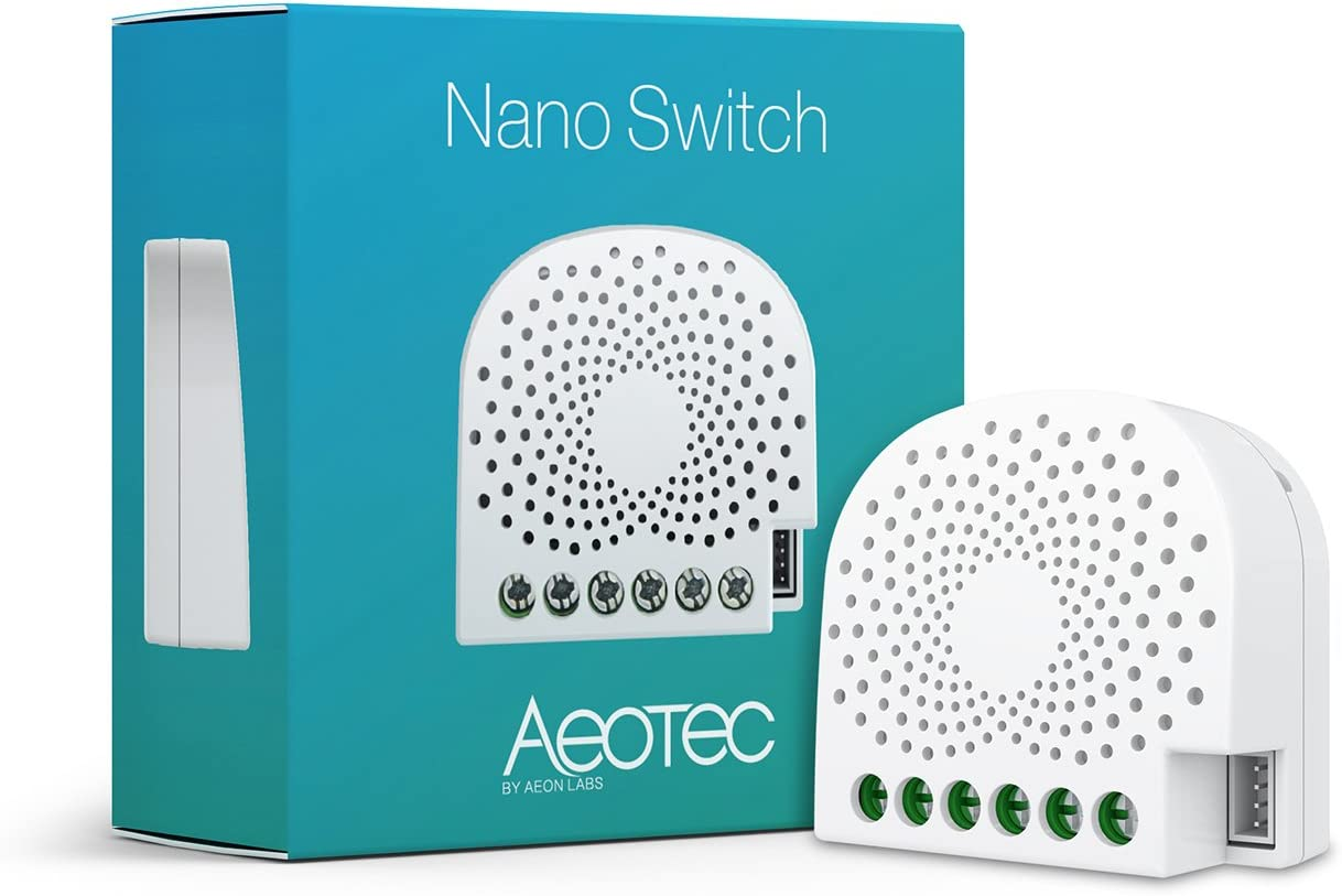 Aeotec Nano Switch on / off controller, Z-Wave Plus, In-wall, Compatible with Alexa