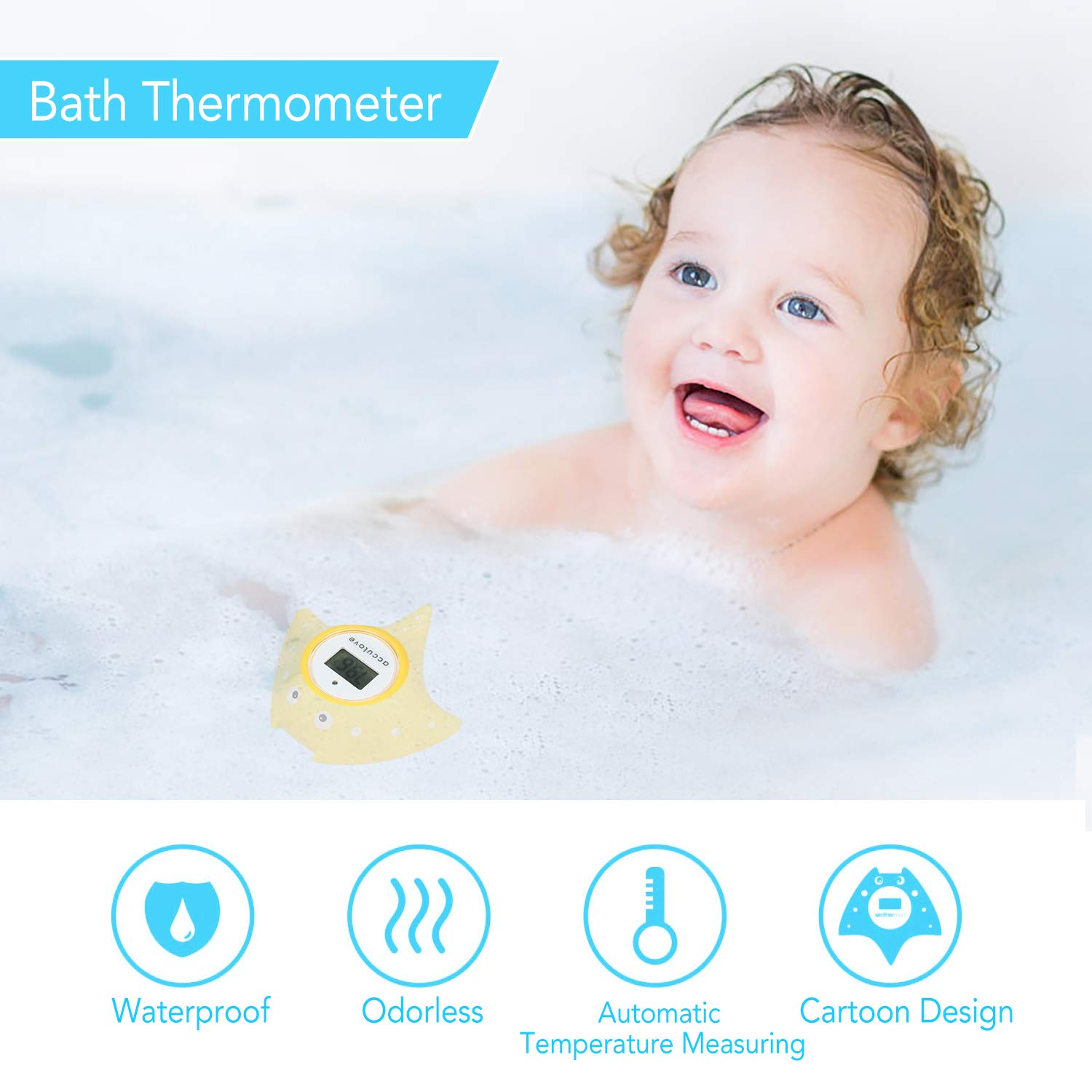 Yellow Fish flottant Baby Bath Thermometer