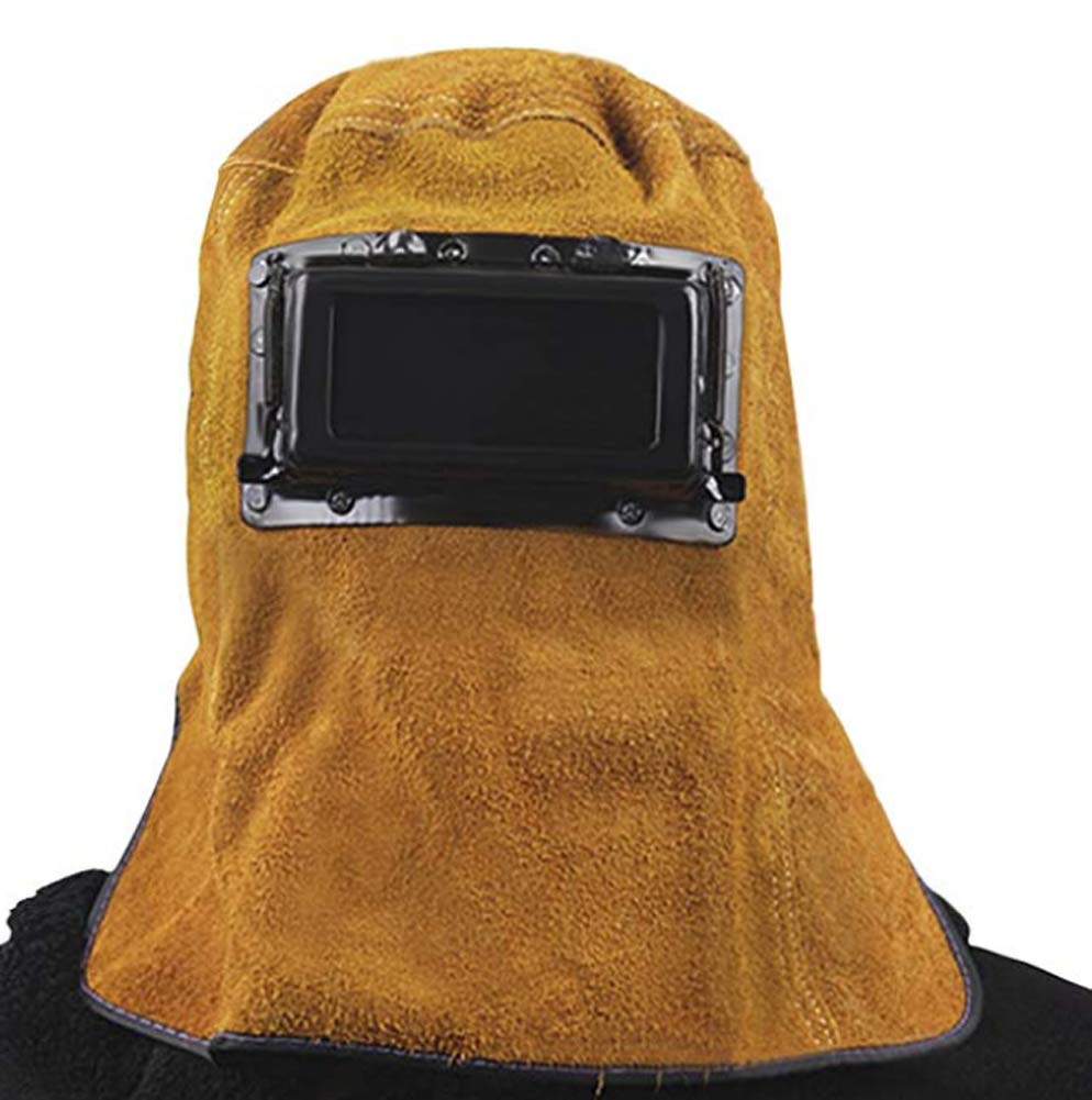 9de9c3b0 welder mask breathable leather grinding welding dust cover dust mask welder  mask with lens glasses flame welding head and neck cap hat heat protection  ...