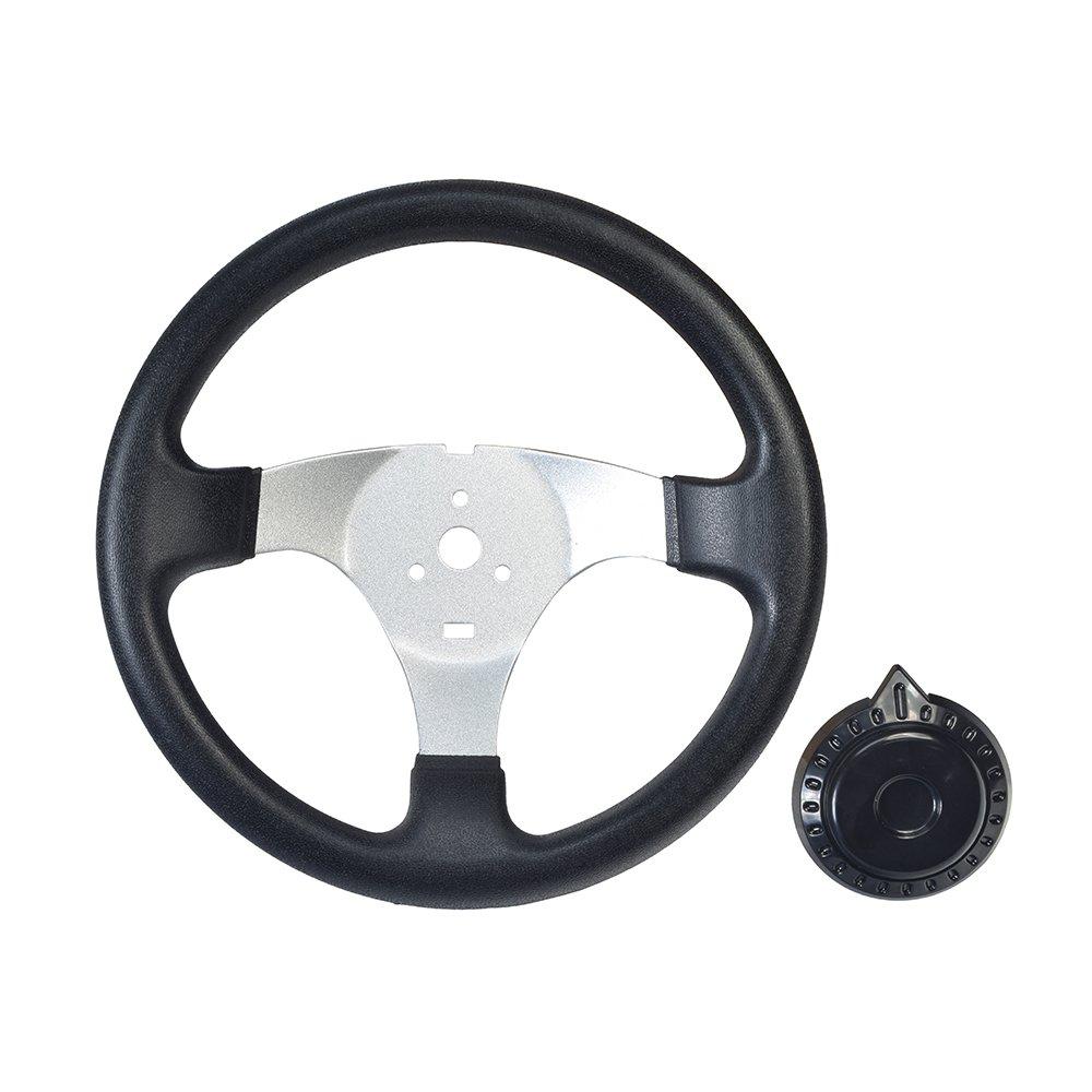 Roketa Hammerhead AlveyTech Go-Kart Steering Wheel with Cap for Kandi Taotao Go-Karts /& Dune Buggies