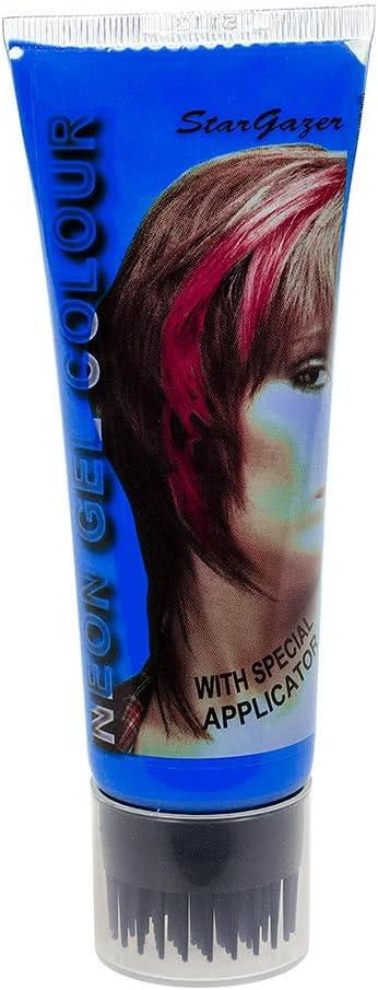 Gel de peinado con coloración temporal UV de Stargazer 50ml (Azul)