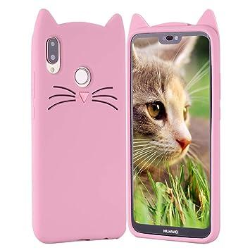 HopMore Gato Funda para Huawei P20 Pro Silicona Motivo 3D Divertidas TPU Gel One Piece Kawaii Carcasa Huawei P20 Pro Ultrafina Slim Case Antigolpes ...