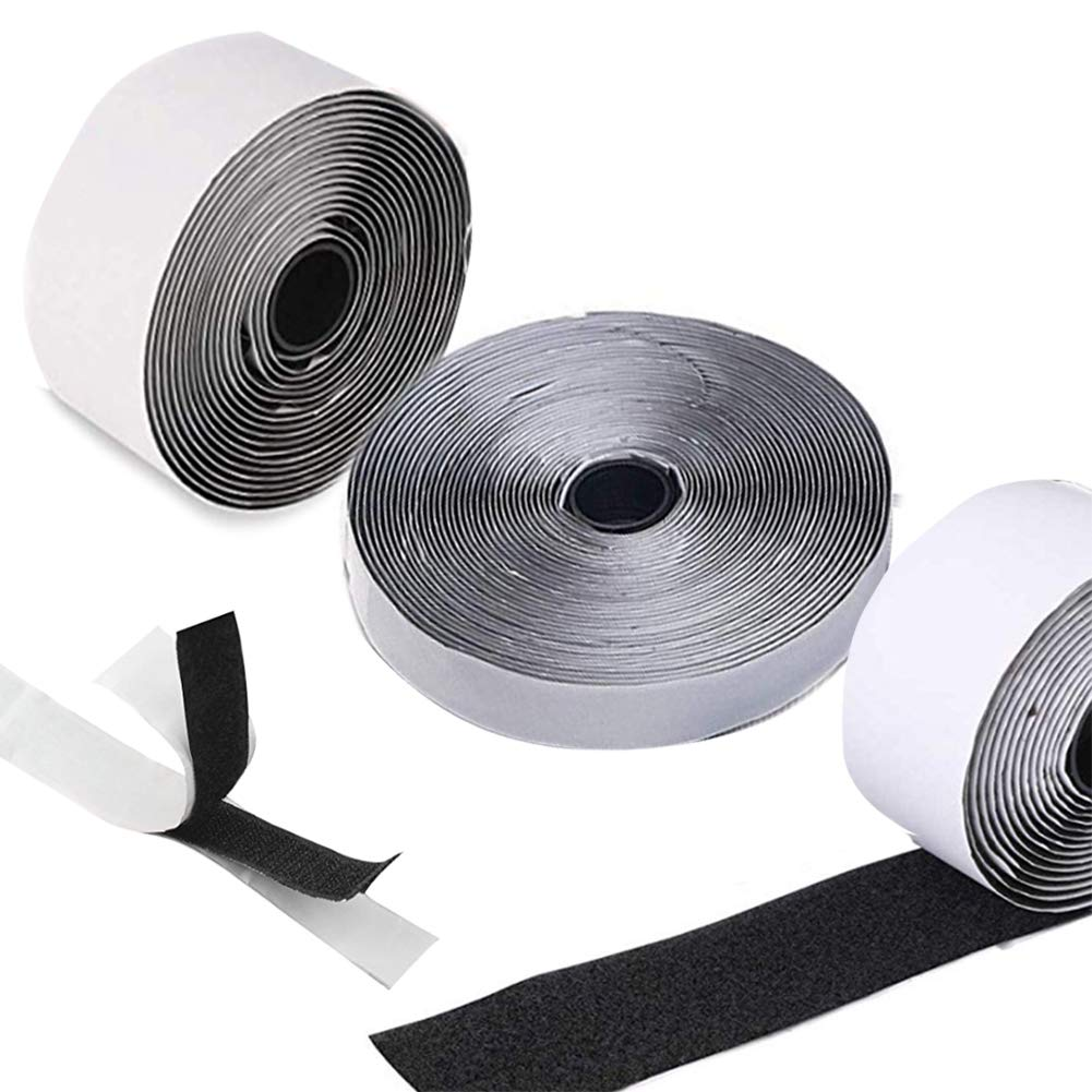 Adhesive Velcro 1/2''Hook and Loop Tape Multi-Purpose Nylon Hook and Loop Sticky Back Fastener for Clothing/Home/Packaging/Industrial (1 inch 9 Yards) YIFEIKU Co. Ltd.