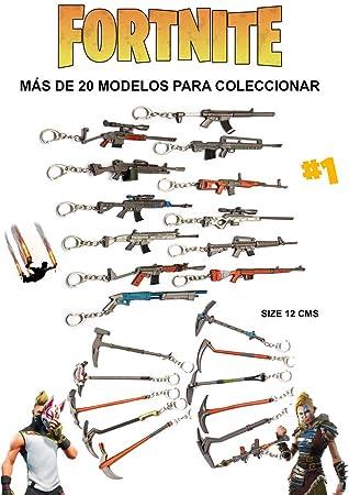 Fortnite Llavero Armas y Pickxases Expositor 24 Unidades
