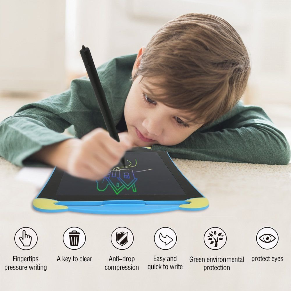 LCD Writing Tablet for Kids Toddlers, Lieko 8.5 inch Kids Drawing Tablet Pad/Digital Drawing Board/Electronic Writing Tablet/Ewriter Family Memo Graphic Writing Tablet (Multi-Color 8.5inch) by Lieko