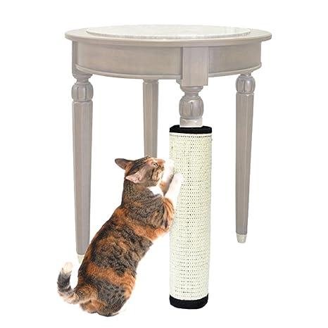 Alfombrilla de rascador para gatos de sisal natural para proteger los muebles de gato y jugar