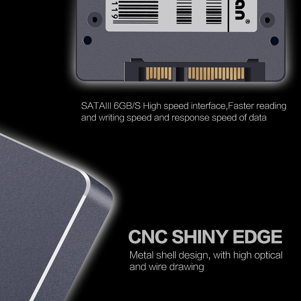 2,5 7 mm SATA III 6 GB//s Original Brand MLC SSD Solid State Drive interno forDesktop PC-S400 120 GB KingDian 6,35 cm