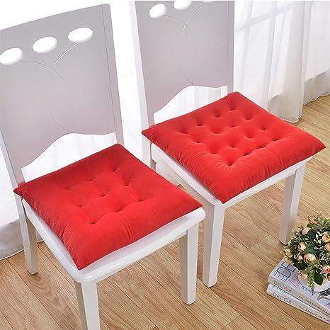YAUUYA Cojines para sillas 40x40x8 cm - Natural - para ...