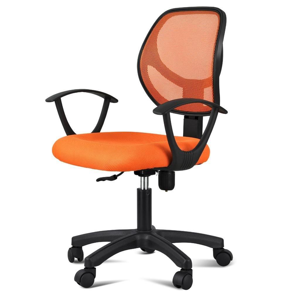 Yaheetech Ergonomic Mesh Computer Office Desk Task Midback Task Chair (Orange)