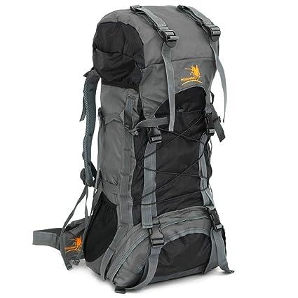 b0bded6da2 Backpack 60L Nylon Waterproof Rucksack Large Capacity Lightweight  Mountaineering Trekking Camping Bag With Rain Cover Climbing
