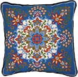 Candamar Designs 30948 Kaleidoscope Style Needle Point Kit, 14 by 14-Inch, Blue