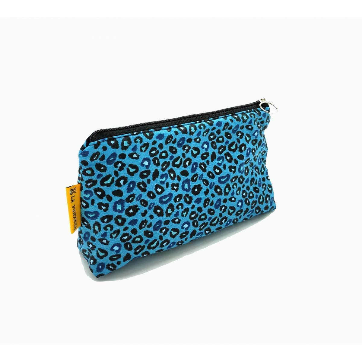 Neceser de tela, Neceser leopardo azul, Estuche de tela animal ...