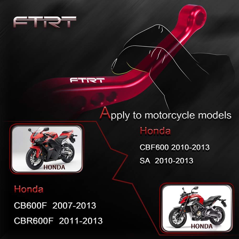 FTRT Palancas de Embrague de Freno-Adecuado: CB600F 2007-2013,CBR600F 2011-2013,CBF600/SA 2010-2013,Rojo: Amazon.es: Coche y moto