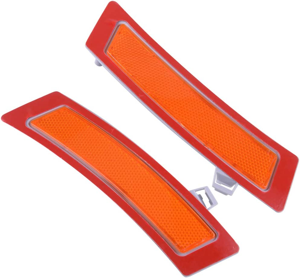 eastar 1 pair Amber Front Bumper Reflector Side Marker Lights Fit for BMW E70 X5 2011-2013