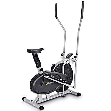 Schwarz günstig kaufen TecTake Crosstrainer mit Trainingscomputer Ausdauertraining Crosstrainer