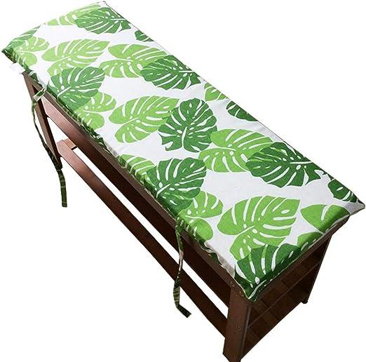 Cojín para banco de jardín, tatami para bancos de patio, muebles de palé, cojines de banco exterior, Verde, 100x30cm: Amazon.es: Hogar