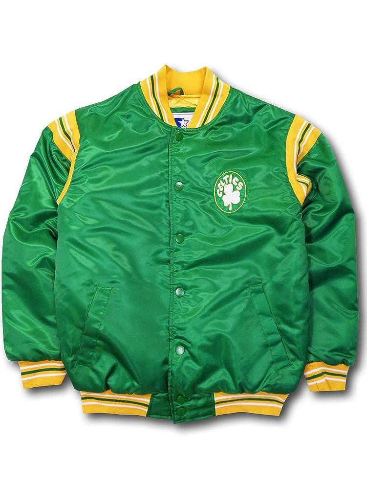 (Starter) スターター キッズ/ジュニア NBA Boston Celtics セルティックス 中綿サテンジャケット [並行輸入品] B07HQCK3NM 緑黄色 キッズサイズ:XL