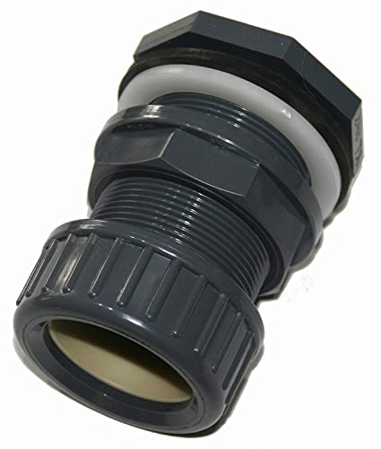 Pasamuros de PVC + tuerca de cierre de 32mm de diámetro montaje