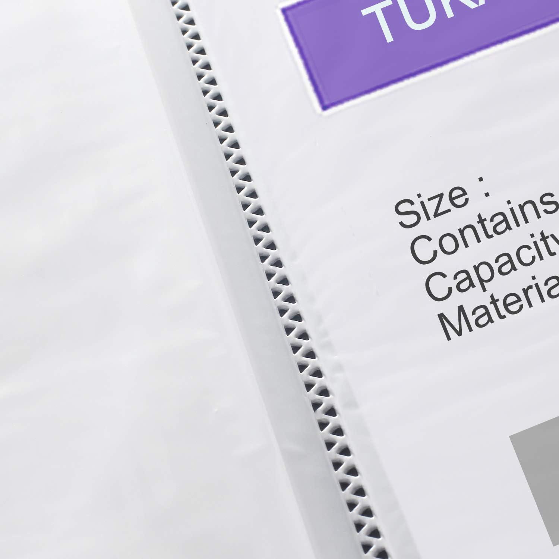 TUKA-i-AKUT [3x] PP Carpetas de fundas A4, 120 fundas transparentes PP Carpetas (3x40), Sólida Polipropileno Carpeta para archivo, Capacidad para 240 ...