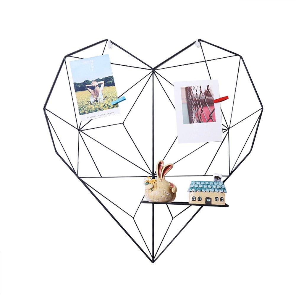 KATURN Fer Rack en Forme de Coeur D/écoration Murale Prop Grille de Fer /étag/ère Murale Mur D/écoration /à Suspendre Porte-journaux pour Le Salon Rose