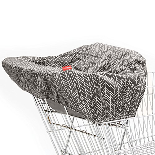 Skip Hop Compact 2-in-1 High Chair/Shopping Cart Cover, Grey Feather, - Compact Baby