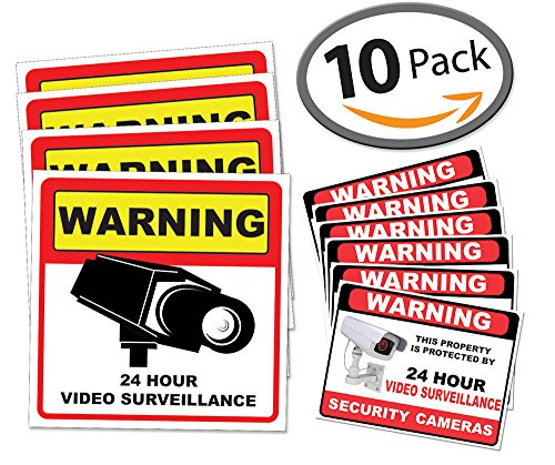 video-surveillance-sticker-sign-decal-10-pack-home-business-camera-alarm-system-stickers-45-1-2-x-5-