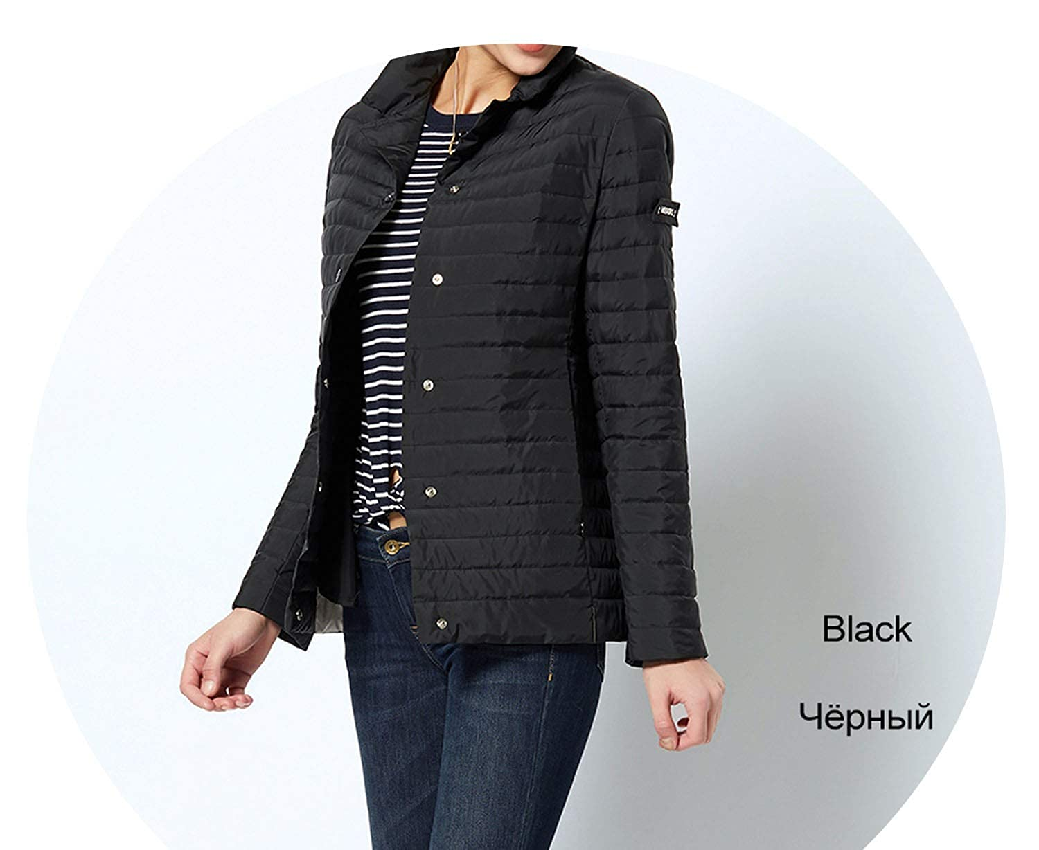 201 Black Windproof Women's Parka Coat Jacket Coat Womens Quilted Coat