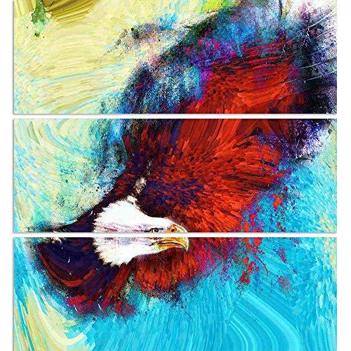 ArtzFolio Eagle with Black Feathers Us Symbols Freedom Split Art Painting Panel On Sunboard 18 X ()